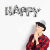 이니셜은박풍선 HAPPY (실버)
