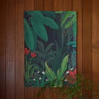 정글 일러스트 패브릭 포스터 / 가리개 커튼