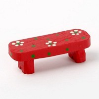 Resin chair - 01 Red bench