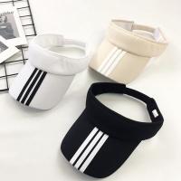 세줄 스포츠 썬캡 운동 모자 자외선차단모자