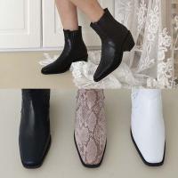 [애슬릿]발 편한 스퀘어 여성 첼시 앵클 부츠 5cm
