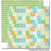낱장 배경지 baby mine boy-alphabet blocks