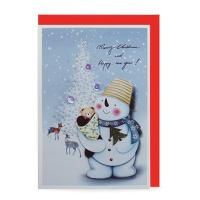 크리스마스카드/성탄절/트리/산타 눈사람 (FS110-4)
