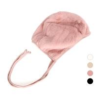 [디꾸보]방한 인조양털 끈 리본 싸개 모자 AC482