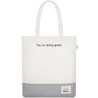 BASIC ECO BAG WHITE+LIGHT GRAY