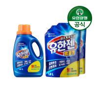 [유한양행]유한젠산소계표백제 용기1.4L+리필1.8L 2개