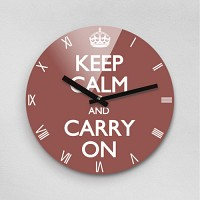 Reflex KEEP CALM MARSALA 무소음벽시계(대) KCR280-BR