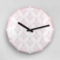 리플렉스 12각 페일 핑크 다이아몬드 무소음 아크릴 벽시계(대) SD24PK