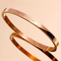 [각인팔찌]4mm Lettering Rose Gold Simple Bangle