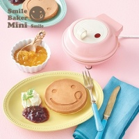 와플기계 스마일 베이커 미니 와플기 팬케이크 핑크