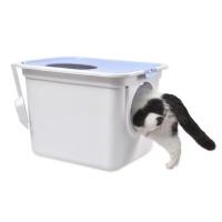 바우미우펫 빅사이즈 위아래 투웨이 고양이화장실