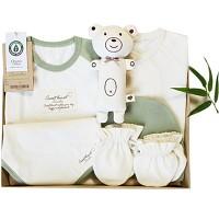 스윗하트 오가닉 프리미엄 밤부그린 신생아 선물세트(여름 출산선물7종세트)