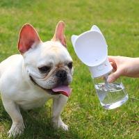 애완용 강아지 휴대용 물병 480ml