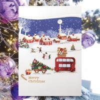 크리스마스카드/성탄절/트리/산타 눈 크리스마스카드 FS1024-3