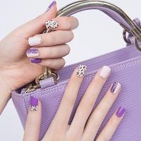 젤네일스티커-핑크바이올렛 레오파드