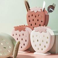 물빠짐수저통 딸기 수저꽂이 보관함
