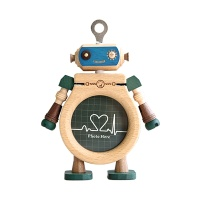 우더풀라이프 액자 WOODEN ROBOT PHOTO FRAME-GREEN