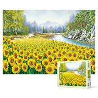 500피스 직소퍼즐 - 금빛으로 물든 해바라기 들판