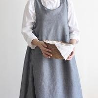 [콩지] 건빵 원피스 앞치마