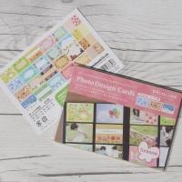 [Nakabayashi] 앨범꾸미기 데코 엽서-나카바야시 포토 디자인 카드 24매 HF495-8 4계절