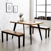 블랙 인더밴 1200 철제 식탁 테이블
