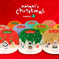 애니멀 크리스마스 입체카드세트 시즌2(10ea/SET)