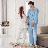 [쿠비카]극세사 바니램 커플 투피스(화이트)잠옷WM059