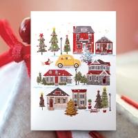 크리스마스카드/성탄절/트리/산타 크리스마스 카드 FS1025-1