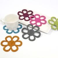 dot flower coaster