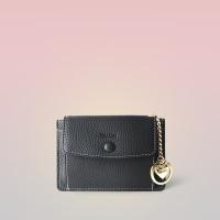 [이니셜 커스텀] Big pocket point wallet _ Black