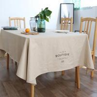 린넨 패브릭 모던 테이블보 4인용 식탁보 140x180cm