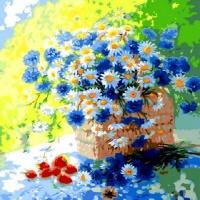 Q1035 퓨러티 작은국화꽃  size 40*50cm(물감2배)