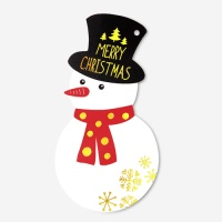 [인디고샵] [금박] 메리크리스마스 눈사람 카드 (1개)