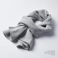 JULGRAN 거즈 솔리드 유아머플러(1~7세) 멜란지그레이