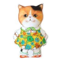 고양이삼촌 쿠션 - 꽃치마 달리