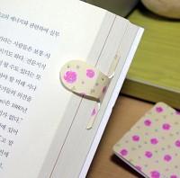 [플라스틱 and 자석 자동책갈피수지인] 써니봄꽃패턴(노랑)