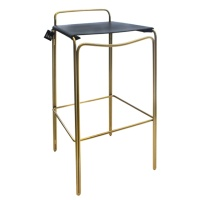 tribu bar chair_gold