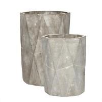 [Hubsch]Pot concrete grey tall s 2 화분셋트449011