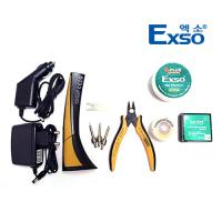 Exso/엑소/휴대용 충전인두기 세트/EX-376S/220v/인두기/니퍼/솔더윅/솔더링 페이스트/차량용충전기/납땜기/용접기/산업용/보급형/온도조절가능/편의성