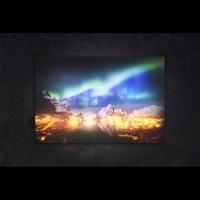 LED 캔버스 조명액자 - 오로라의 야경