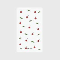 [어프어프] 보조배터리 Leaf cherries-white