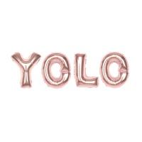 알파벳은박풍선세트 (YOLO) 로즈골드