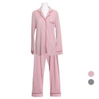 [쿠비카]드레이프성 멜팅스판 투피스 여성잠옷 W714