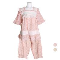 [쿠비카]바스트 이중 레이스 5부 투피스 여성잠옷W743