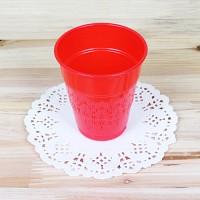 파티용 칼라 컵-레드(10개입)