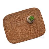 라탄 사각 식탁매트(둥근모서리)