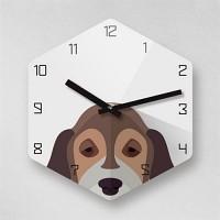 Reflex Dachshund Dog 2type 무소음벽시계- CDDH
