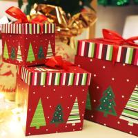 크리스마스 3단 종이상자 세트 (트리)