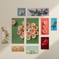 pf048-멀티액자_색상다양한꽃