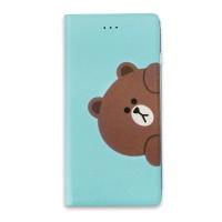 라인프렌즈 iPhone7,8 DIARY BROWN Hi LIGHT CASE